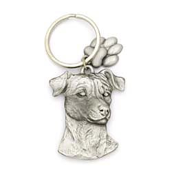 Jack Russell Terrier Keychain Pewter