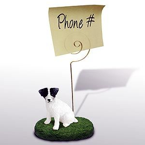 Jack Russell Terrier Note Holder (Rough Coat)