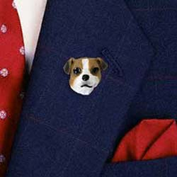 Jack Russell Terrier Pin Hand Painted Resin