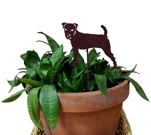 Jack Russell Terrier Plant Stake