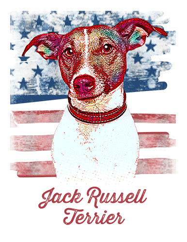 Jack Russell Terrier T Shirt American Flag