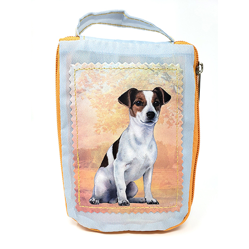 Jack Russell Terrier Tote Bag - Foldable to Pouch