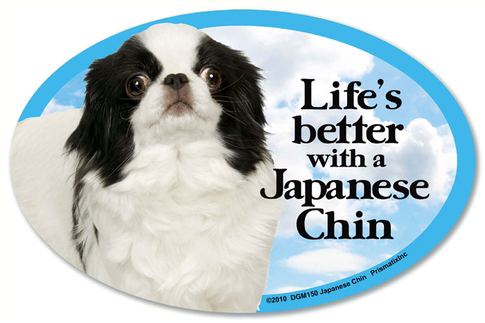 Japanese Chin Car Magnet - Life's Better