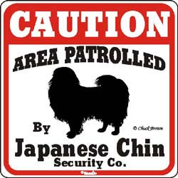 Japanese Chin Caution Sign