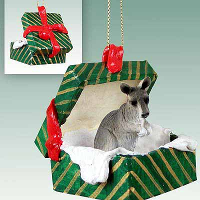 Kangaroo Gift Box Christmas Ornament