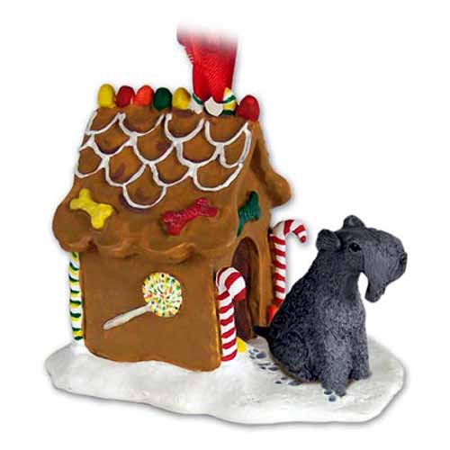 Kerry Blue Terrier Gingerbread House Christmas Ornament