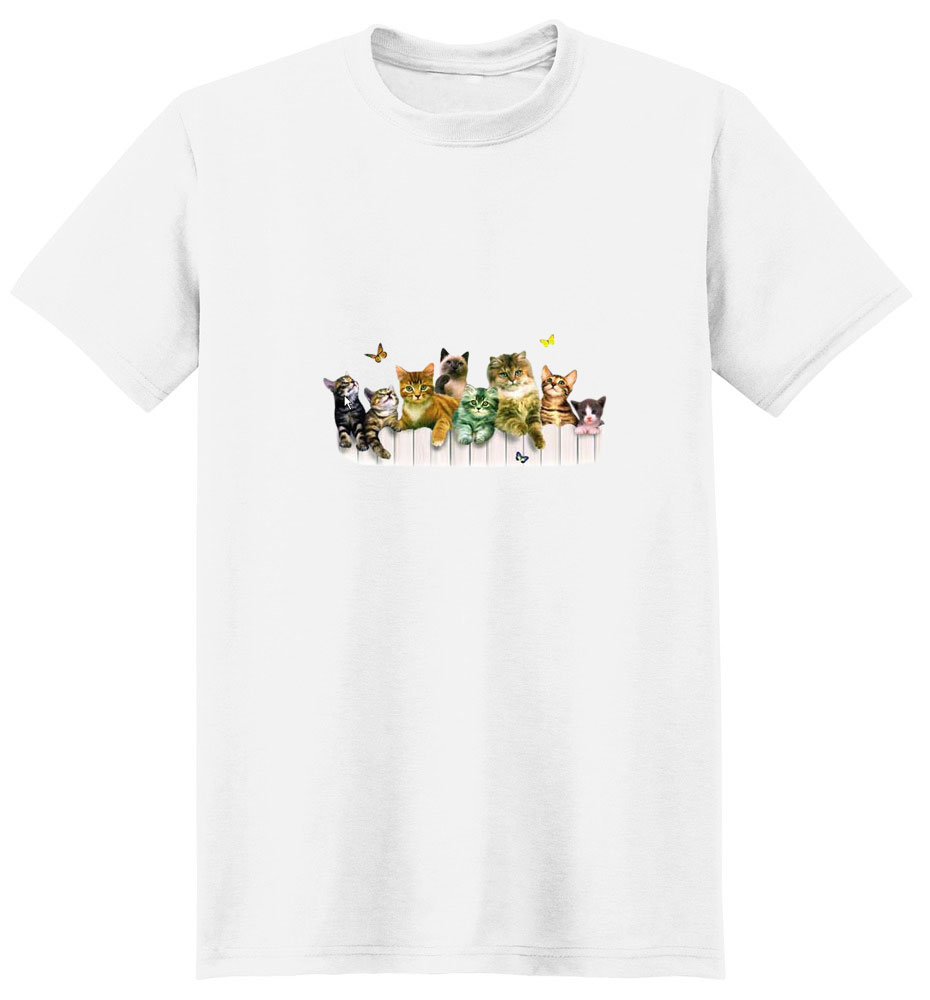 Kitten T-Shirt - With Butterflies