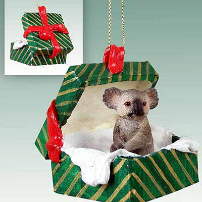 Koala Gift Box Christmas Ornament