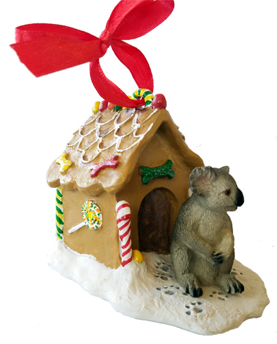 Koala Gingerbread House Christmas Ornament