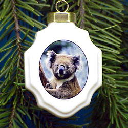 Koala Christmas Ornament Porcelain