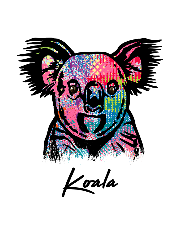 Koala T Shirt Colorful Abstract