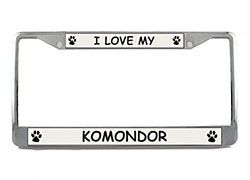 Komondor License Plate Frame