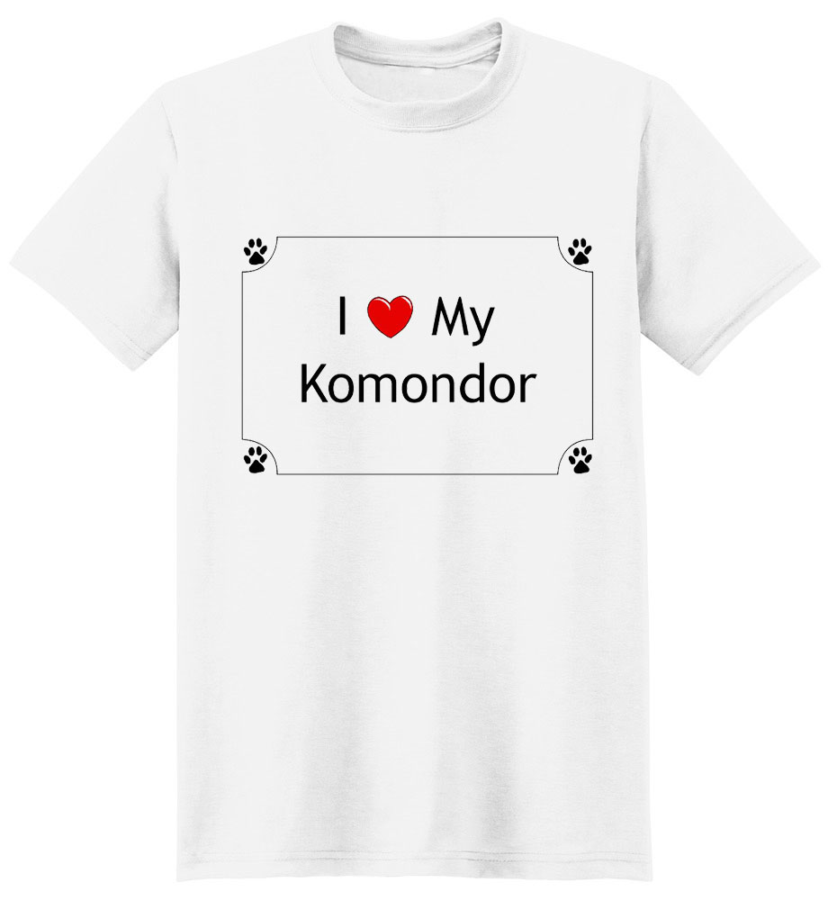 Komondor T-Shirt - I love my
