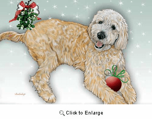 Labradoodle Christmas Cards