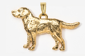 Labrador Retriever 24K Gold Plated Pendant
