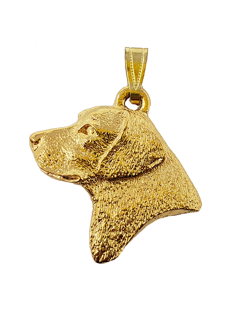 Labrador Retriever 24K Gold Plated Pendant Head
