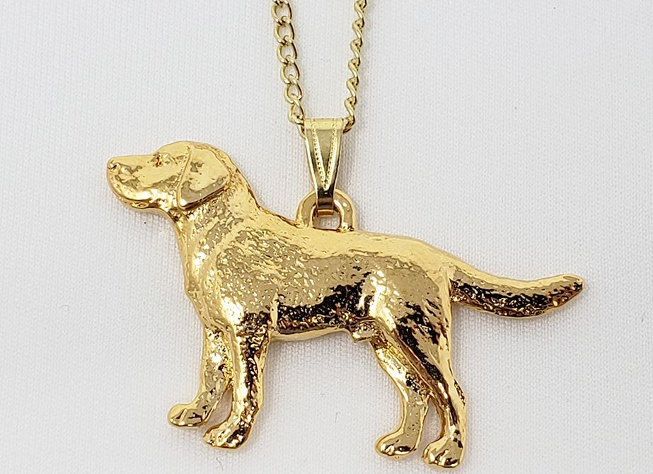 Labrador Retriever 24K Gold Plated Pendant with Necklace
