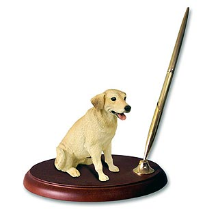 Labrador Retriever Yellow Pen Holder