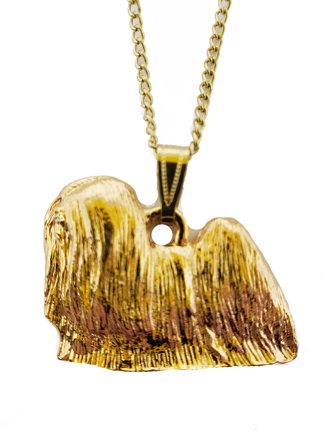 Lhasa Apso 24K Gold Plated Pendant with Necklace