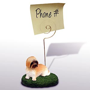 Lhasa Apso Note Holder (Brown Sport cut)