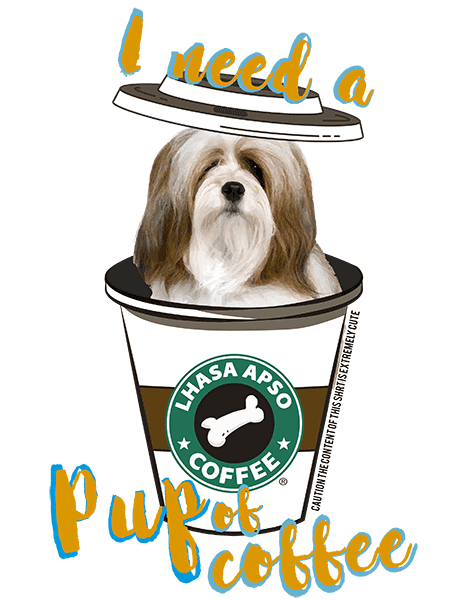 Lhasa Apso T Shirt - Coffee Mug