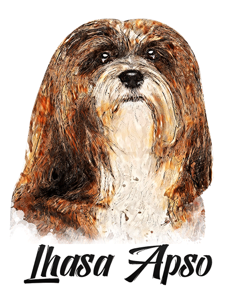 Lhasa Apso T-Shirt - Vivid Colors