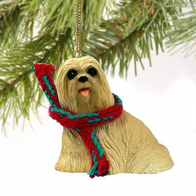 Lhasa Apso Tiny One Christmas Ornament Blonde