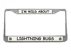 Lightning Bug License Plate Frame