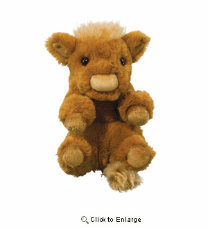 """Lil handfuls Baby Highland Cow Plush 6"""" by Douglas Toy"""