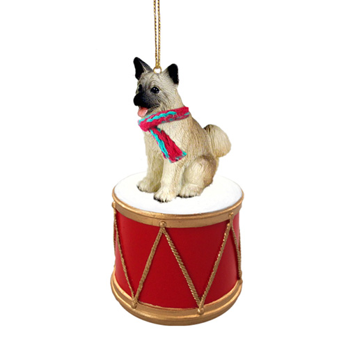 Little Drummer Akita Christmas Ornament