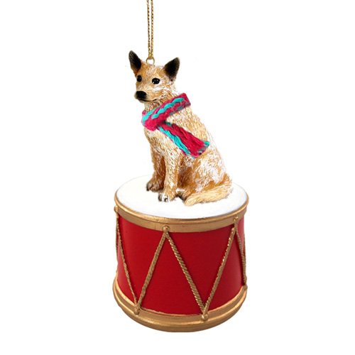 Little Drummer Australian Cattle Dog Christmas Ornament