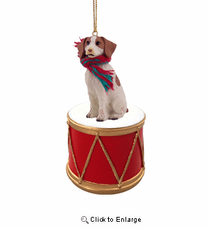 Little Drummer Brittany Christmas Ornament