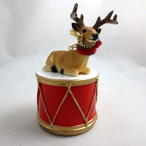 Little Drummer Deer Buck Christmas Ornament