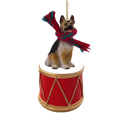 Little Drummer German Shepherd Christmas Ornament