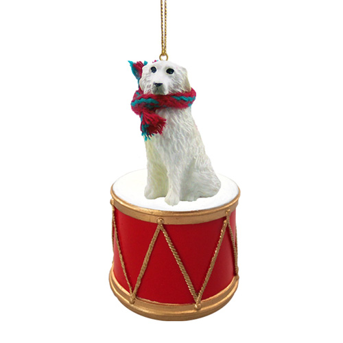 Little Drummer Great Pyrenees Christmas Ornament