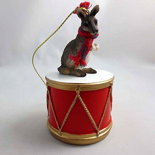 Little Drummer Kangaroo Christmas Ornament