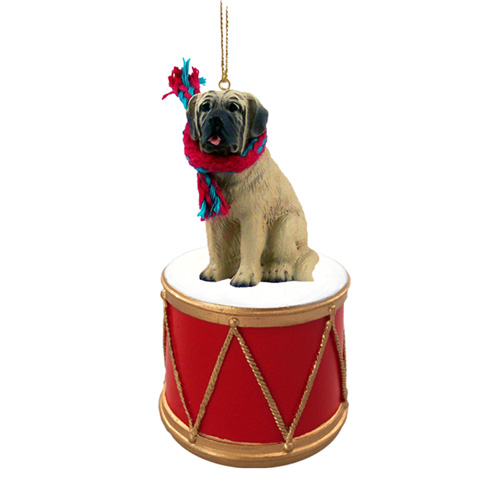 Little Drummer Mastiff Christmas Ornament