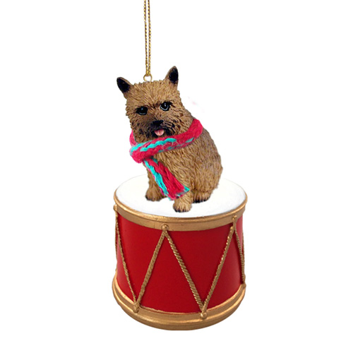Little Drummer Norwich Terrier Christmas Ornament