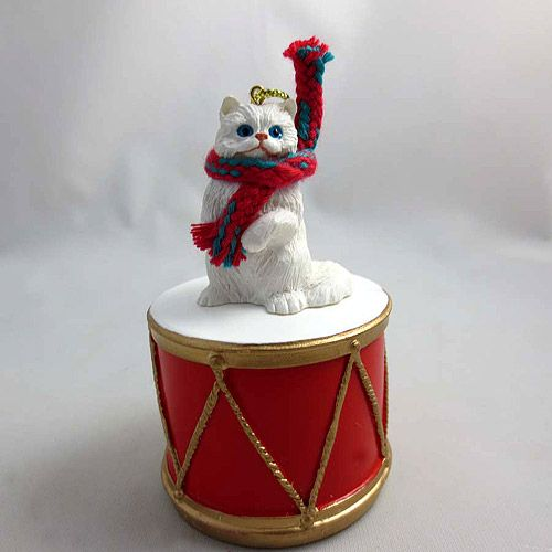 Little Drummer Persian Cat Christmas Ornament