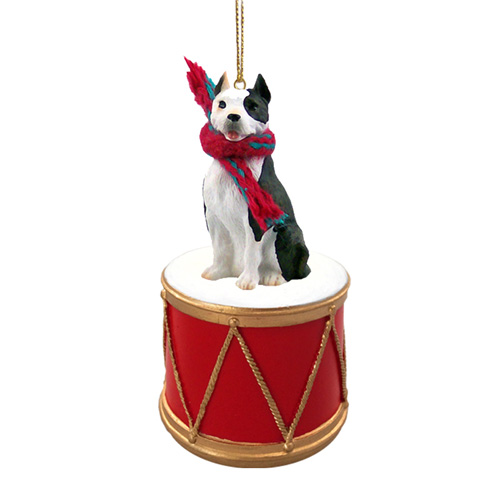 Little Drummer Pit Bull Christmas Ornament