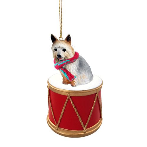 Little Drummer Silky Terrier Christmas Ornament