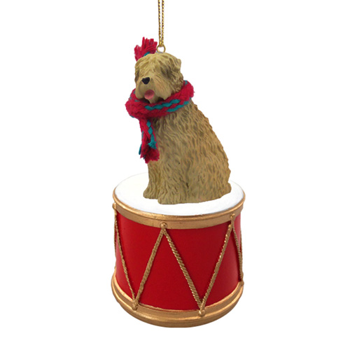 Little Drummer Wheaten Terrier Christmas Ornament