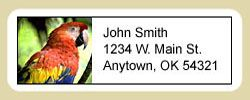 Macaw Address Labels