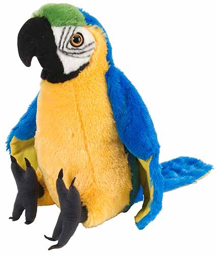Wild Republic Macaw Parrot Plush,  Cuddlekins 12