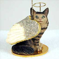 Maine Coon Cat Christmas Ornament Angel