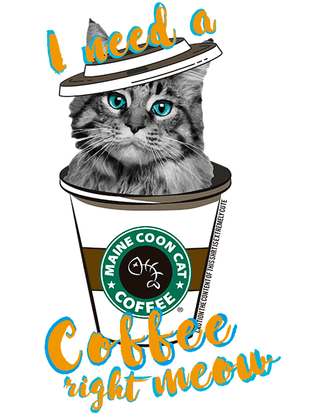 Maine Coon Cat T Shirt - Coffee Mug
