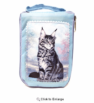 Maine Coon Cat Tote Bag - Foldable to Pouch