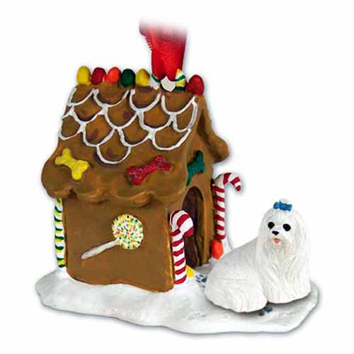 Maltese Gingerbread House Christmas Ornament