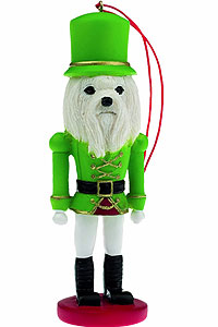 Maltese Ornament Nutcracker