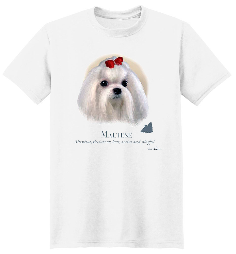 Maltese T Shirt by Howard Robinson